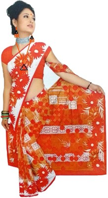 Coloursexports Floral Print Daily Wear Synthetic Fabric Sari
