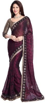 Aanaya Fashions Polka Print Bollywood Georgette Sari
