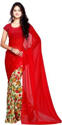 Ligalz Printed Fashion Handloom Chiffon Sari