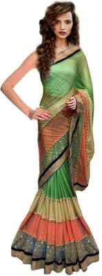 Clother Striped Banarasi Lycra Sari