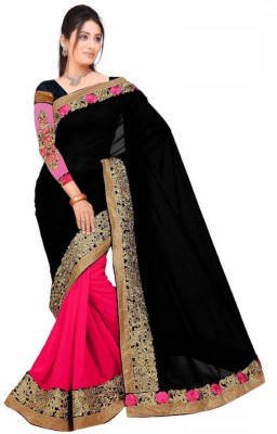 JK Creation Embriodered Fashion Georgette Sari
