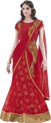 Mahotsav Self Design Fashion Lycra Saree(Pack of 2, Red) at flipkart