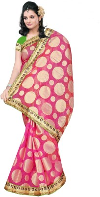Chirag Sarees Self Design Banarasi Cotton Sari