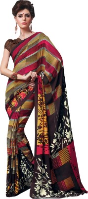 Vachi Striped Daily Wear Georgette Sari