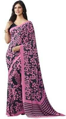 Vipul Printed Daily Wear Crepe Sari