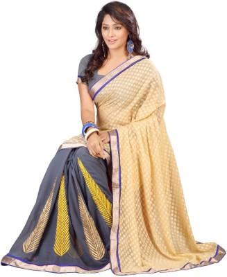 Jay Textile Self Design Fashion Chiffon Sari