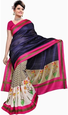 Best Collection Floral Print Bollywood Art Silk Sari