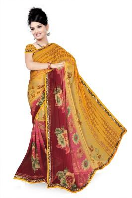 Sonia fashion Floral Print Bollywood Georgette Sari