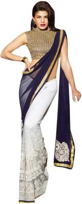 Friendlyfab Embriodered Fashion Georgette Sari