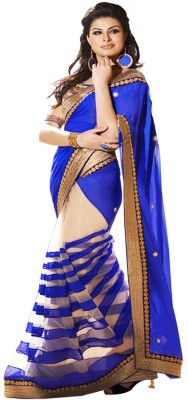 Divine Self Design Fashion Georgette, Net Sari