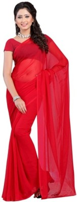 Sonika Plain Daily Wear Georgette Sari