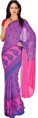 Royal Choice Floral Print Bollywood Georgette Sari