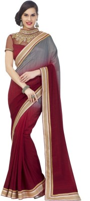 Vipul Embellished, Embriodered Fashion Art Silk Sari