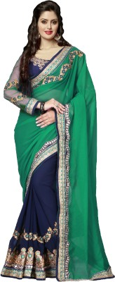 Dhnet Embriodered Fashion Georgette Sari
