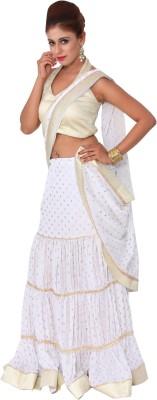 Raagbydeepa Embellished Fashion Handloom Crepe Sari
