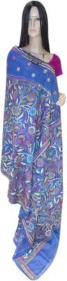 Exin Fashion Woven Kantha Tussar Silk Sari
