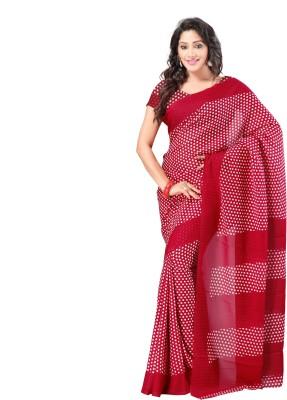 Goodfeel Polka Print Fashion Chiffon Sari