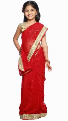 SareeGalaxy Embellished Fashion Georgette Sari