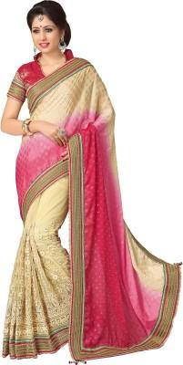 Trimurti Fashion Embriodered Fashion Handloom Net Sari
