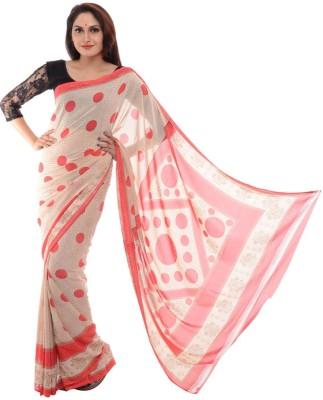 Samadhi Sarees Self Design Daily Wear Synthetic Chiffon Sari