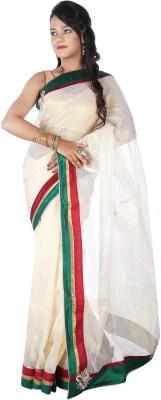 City Saree Centre Self Design Bollywood Handloom Silk Cotton Blend, Net Sari