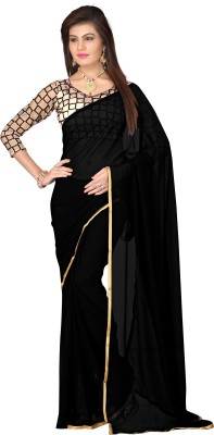 VardhitaFashion Embriodered Fashion Chiffon Sari