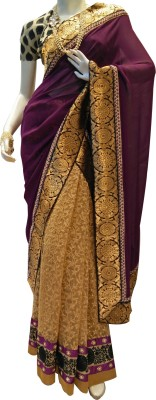 MAMTA BOUTIQUE Self Design Bollywood Net, Georgette Sari