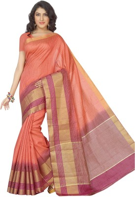 Rani Saahiba Woven Fashion Art Silk Sari(Orange)