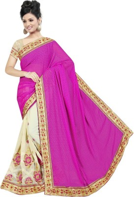 Teeya Creation Embriodered Fashion Georgette Sari