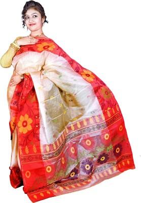 Kakali Self Design Phulia Handloom Tussar Silk Sari