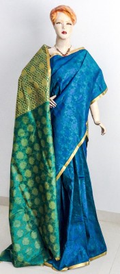Sns Galore Self Design Kanjivaram Art Silk Sari