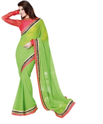 Zarasboutique Self Design Fashion Georgette Sari