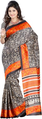 Gazbiyya Printed Fashion Art Silk Sari