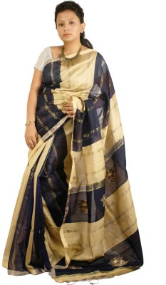 Raa Sha Self Design Phulia Handloom Cotton, Silk Sari