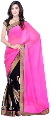 Jhankar Fab Solid Bollywood Georgette Sari