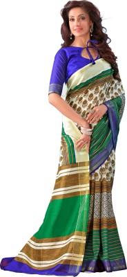 Kjs Houndstooth Bollywood Art Silk Sari