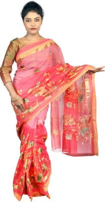 Abstra Embriodered Tant Handloom Cotton Sari
