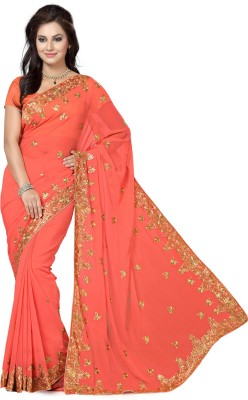 Saree Swarg Embriodered Bollywood Chiffon Sari
