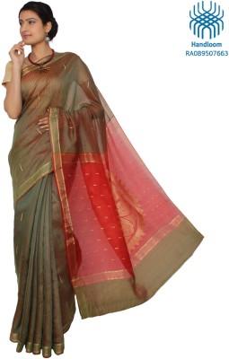 Jharcraft Striped Fashion Handloom Silk Sari