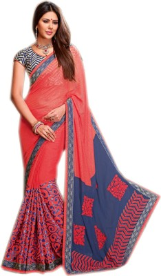 Shoppingover Self Design Bollywood Handloom Georgette Sari
