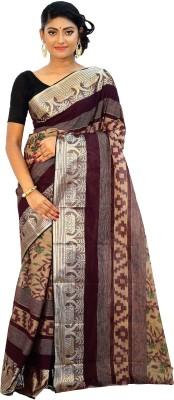 Rudrakshhh Solid Tant Handloom Cotton Saree(Multicolor) at flipkart