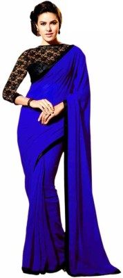 Dk Enterprise Embriodered Bollywood Handloom Georgette Sari
