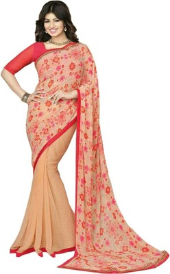 Z HOT FASHION Printed Fashion Georgette Sari