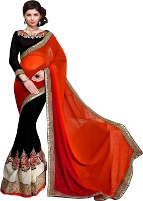 Aasvaa Embriodered Fashion Georgette Sari
