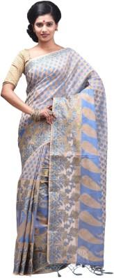 Creation Self Design Fashion Silk Cotton Blend Sari