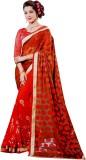 Awadh Embroidered Chanderi Georgette Sar...