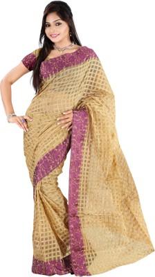 Vastrakala Checkered Bhagalpuri Khadi Sari
