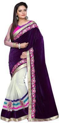 TAPI INTERNATIONAL Self Design Bollywood Velvet Sari