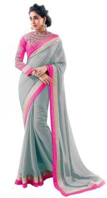 Sixmeter Plain Fashion Georgette Sari