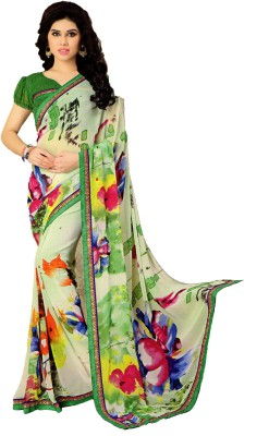 GreatIndiaFashion Printed Fashion Georgette Sari